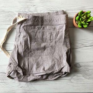 Brown Pinstripe Hollister Shorts